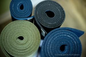 Jade Yoga mats - note thickness.
