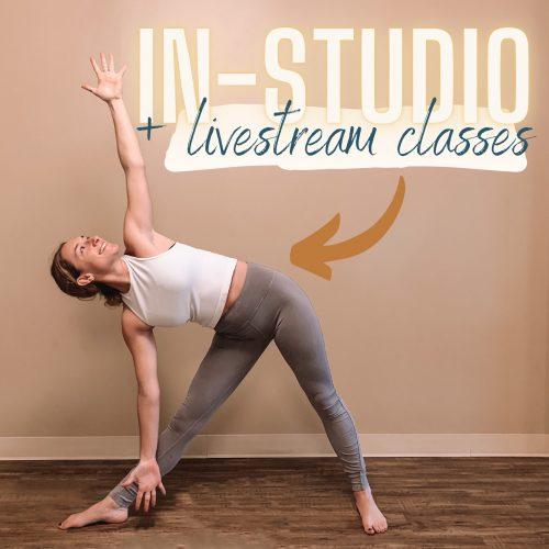 In-Studio + Livestream Purchase Options